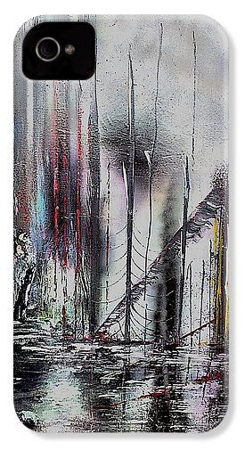 Gloomy Sunday IPhone 4 / 4s Case Printed with Fine Art spray painting image Gloomy Sunday by Nandor Molnar (When you visit the Shop, change the orientation, background color and image size as you wish)