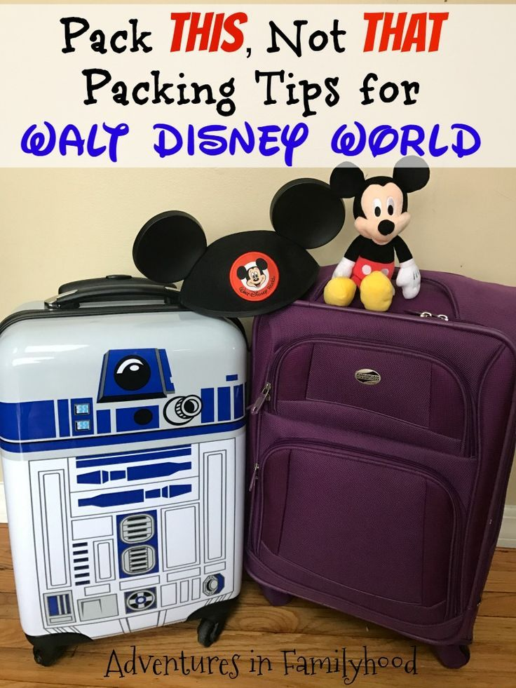 What should you pack for your Walt Disney World vacation? Here's a list, tips and free printable to help make your packing decisions easier. via @Advinfamilyhood
