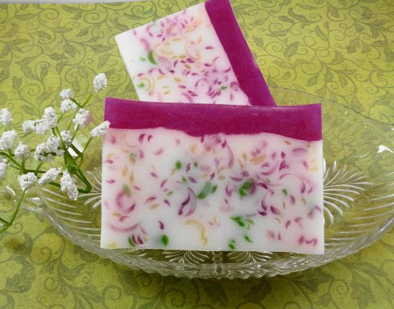 Soap Pink Peony Paradise Soap Made with Shea Butter  by SoapGarden