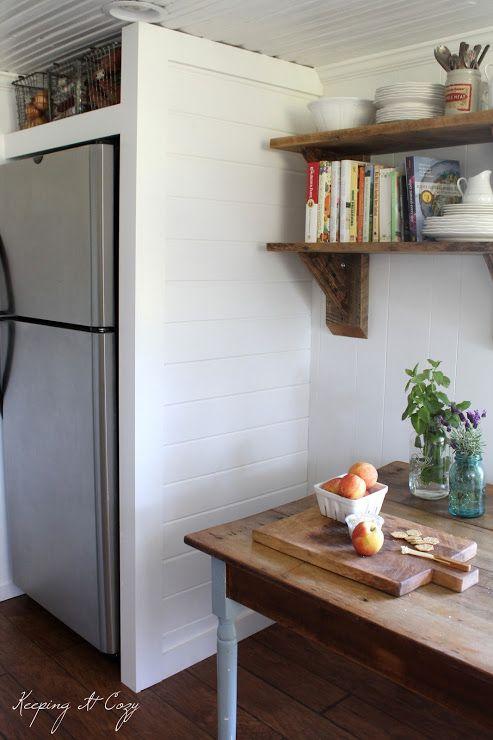 Best Diy Refrigerator Cabinets Images On Pinterest Kitchen