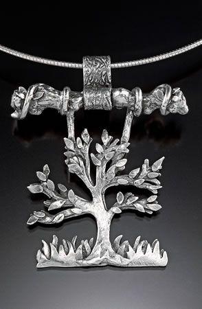 Pendant   Joni Doyle-Sims.  Precious metal clay (fine silver)