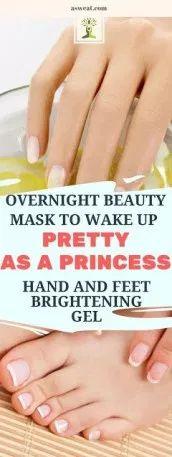 Pinholic | OVERNIGHT BEAUTY MASK TO WAKE UP PRETTY AS A PRINCESS: HAND AND FEET …