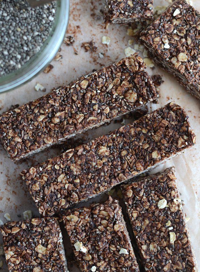 Chocolate Coconut Chia Seed Bars
