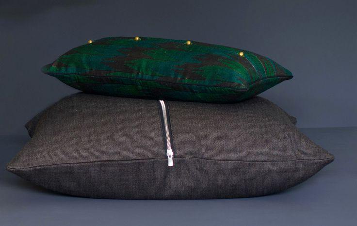 Tissus pure laine vintage, collection de coussins sur Sample Concept