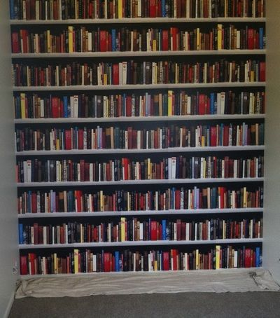 Ever wondered how you could fit a big beautiful library into your home without enough books? Simple! Find a bookshelf printed wallpaper and we'll install it for you.