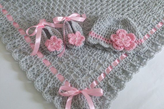 Hey, I found this really awesome Etsy listing at https://www.etsy.com/listing/246547434/crochet-baby-blanket-afghan-hat-and