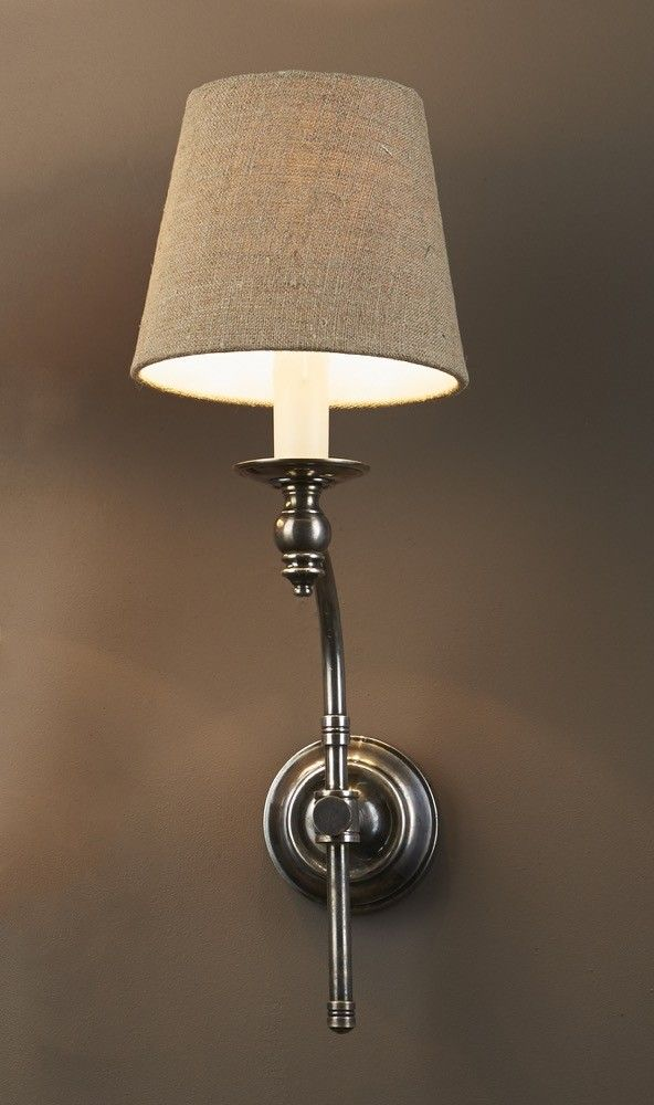 Soho Curved Wall Sconce Base Antique Silvern $220