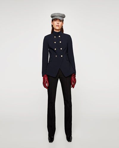 DOUBLE BREASTED MILITARY JACKET-BLAZERS-WOMAN | ZARA United States