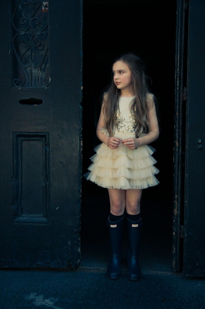 Dress by Tutu du Monde, boots by Hunter, girls fashion for winter 2013.