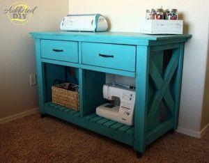 DIY Double Rustic X Kitchen Island (aka my new craft table)