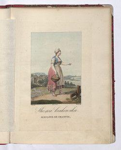 Służąca krakowska 1817, polish kraków maid dress