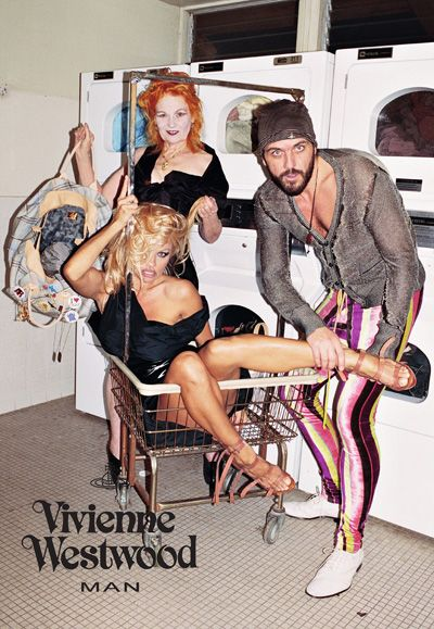 "Vivienne Westwood ad by Juergen Teller:   ""Objectification of a woman ""involves the act of disregarding the personal and intellectual abilities and capabilities of a female; and reducing a woman's worth or role in society to that of an instrument for the sexual pleasure that she can produce in the mind of another"""" (Module 5, ""Objectification?"")"