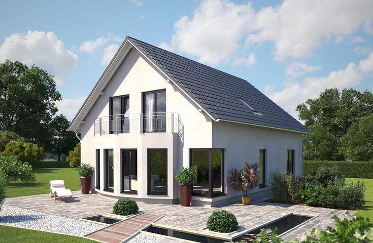 Living 167 - Hanlo Haus - http://www.hausbaudirekt.de/haus/living-167/ - Fertighaus als Einfamilienhaus Modernes Haus Stadthaus mit Satteldach