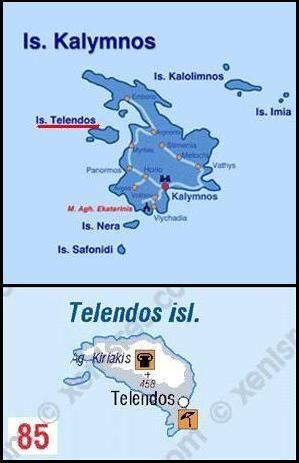 Map of Telendos, Plattegrond Telendos