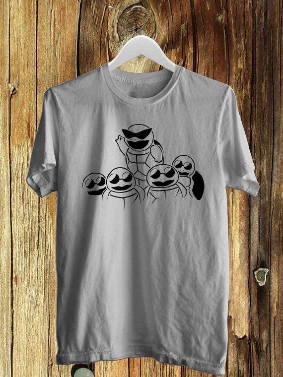 #clothing #men_shirt #shirt #men_M_L_XL #t-shirt #black #white #The_Squirtle_Pokemon