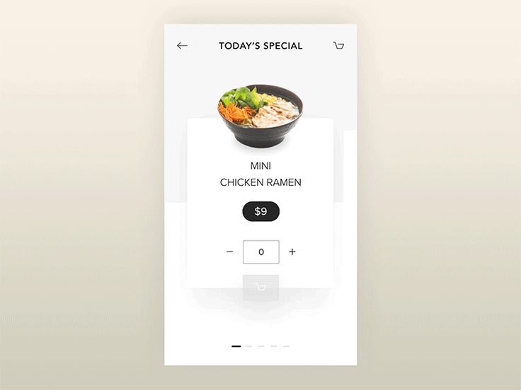 Today's Special - Ramen restaurant app