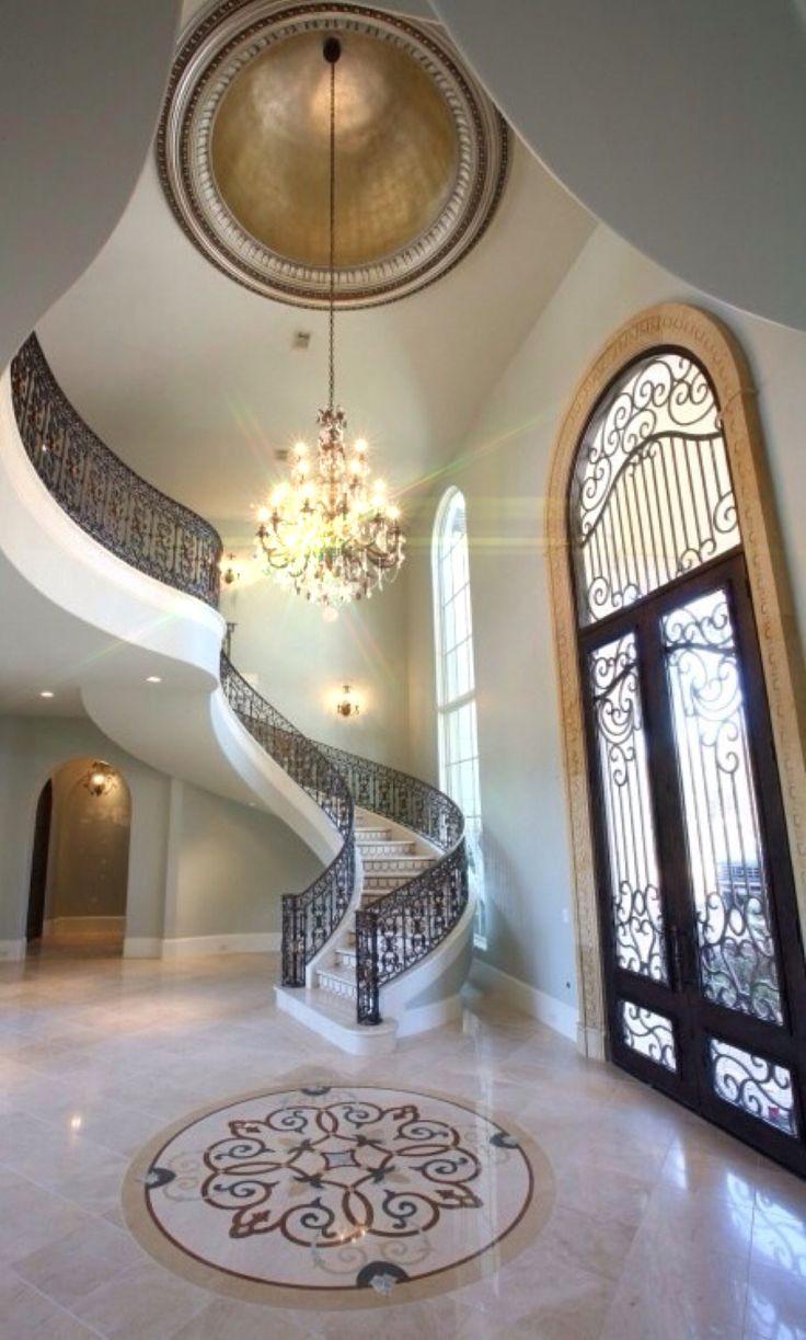 Luxury Homes Foyer 477 best escaleras con estilo!! images on pinterest | stairs