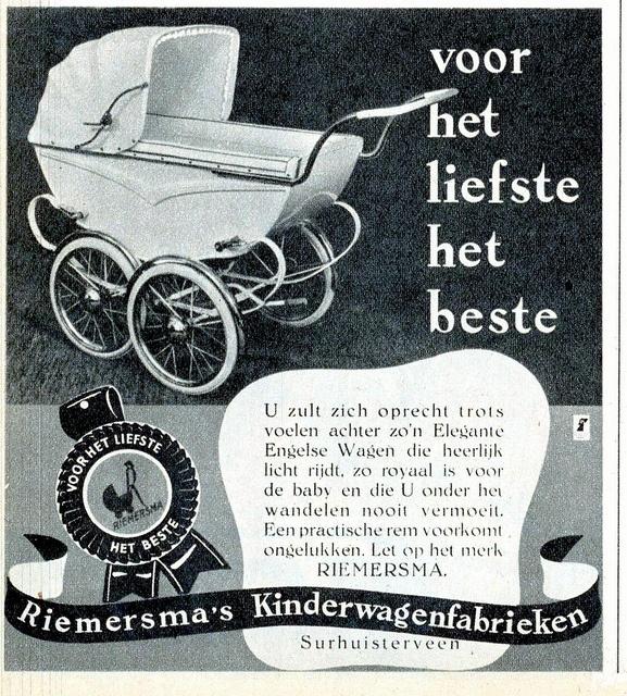 adv riemersma Kinderwagens,Libelle april 1951 (Riemersma is onderdeel van Koelstra)