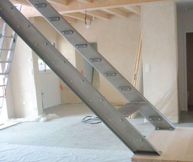 escalier garde corps rampe m tal brut vend e la roche sur yon stairs pinterest steel. Black Bedroom Furniture Sets. Home Design Ideas