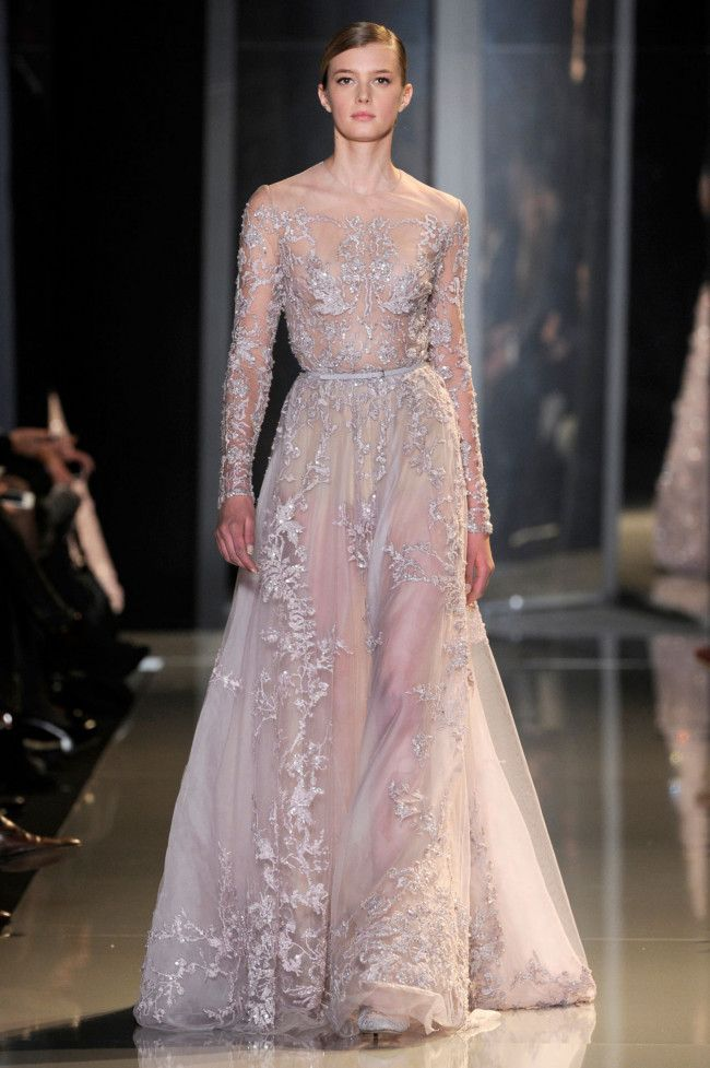 Bridal trends from Paris Couture: Blushing bride at Elie Saab haute couture spring 2013