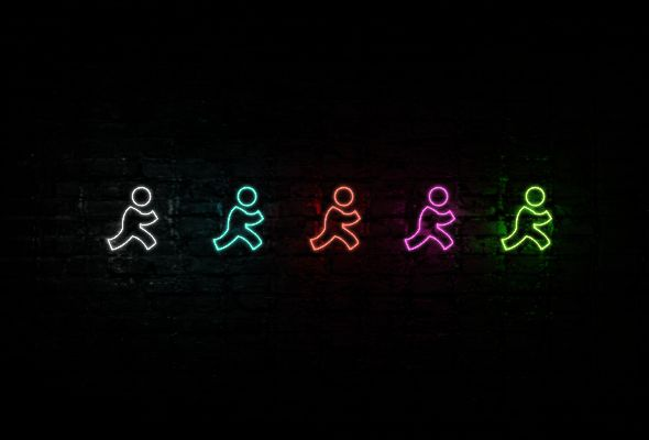 #AIM #neonicons #club  AIM neon icon | Neon icons pack  https://gumroad.com/l/EyAl