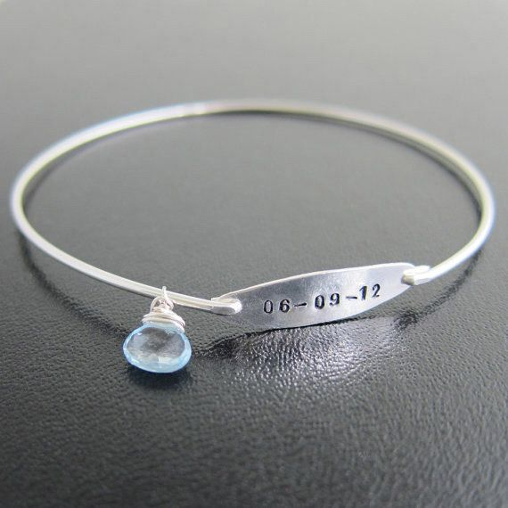 Something Blue Jewelry Personalized Bridal Gift by FrostedWillow