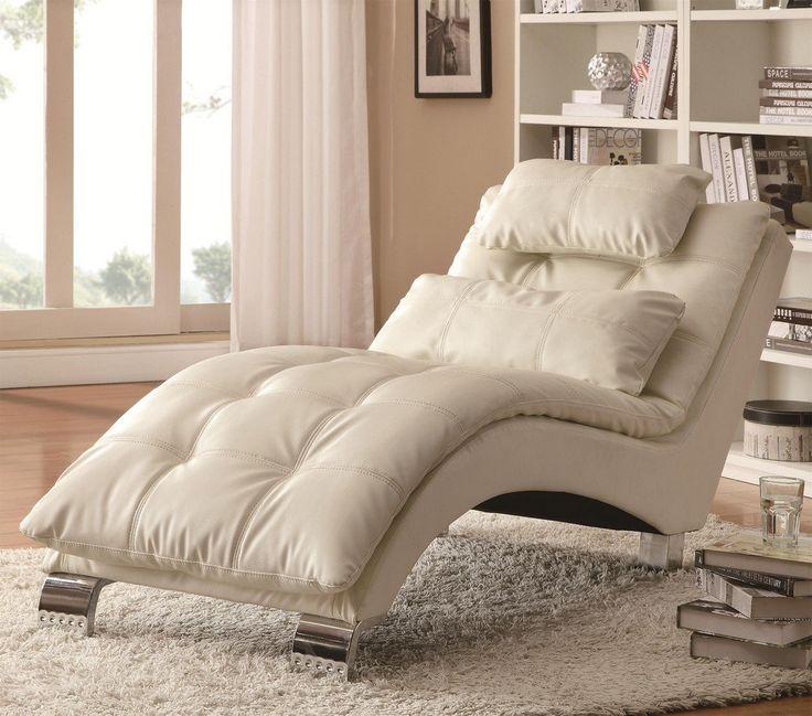 coaster home furnishings chaise white