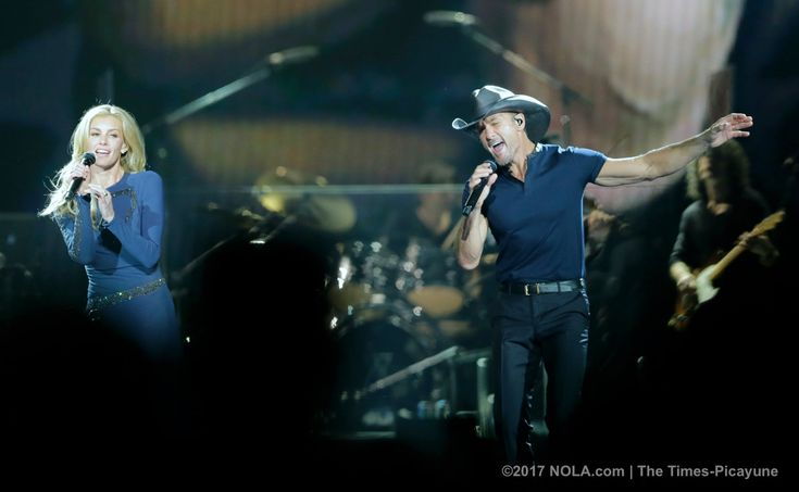 Faith Hill and Tim McGraw perform at the Smoothie King Center for their Soul2Soul tour in New Orleans on Friday, April 7, 2017. (Photo by Brett Duke, Nola.com | The Times-Picayune)