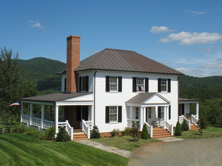 Farm House With A Wrap Around Porch For The Home