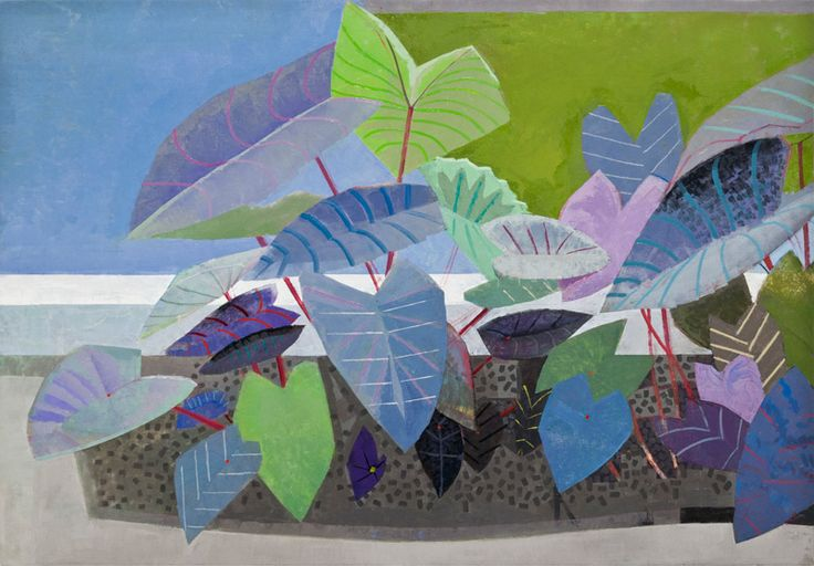 "Gallery Henoch - John Evans, The Leaves, 50"" x 72"""
