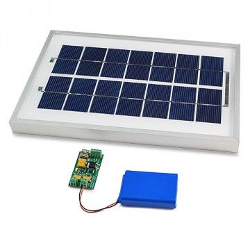 Solar panel for the Arduino board with battery charger