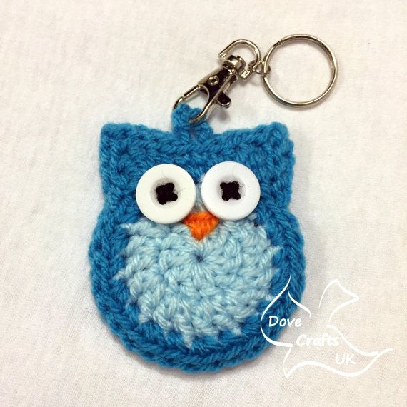 Owl Key Ring / Key Chain CROCHET PATTERN (keyring, keychain)