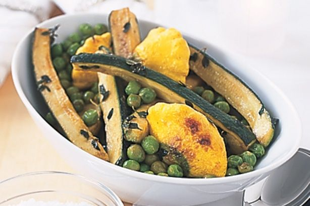 Vegetables with lemon and thyme