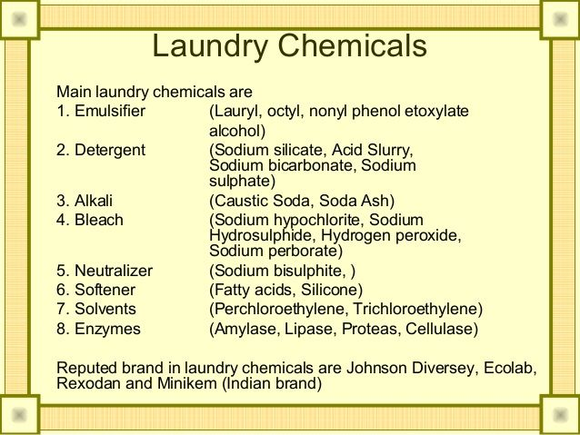 Laundry Chemicals Used In Hotels Google Search With Images