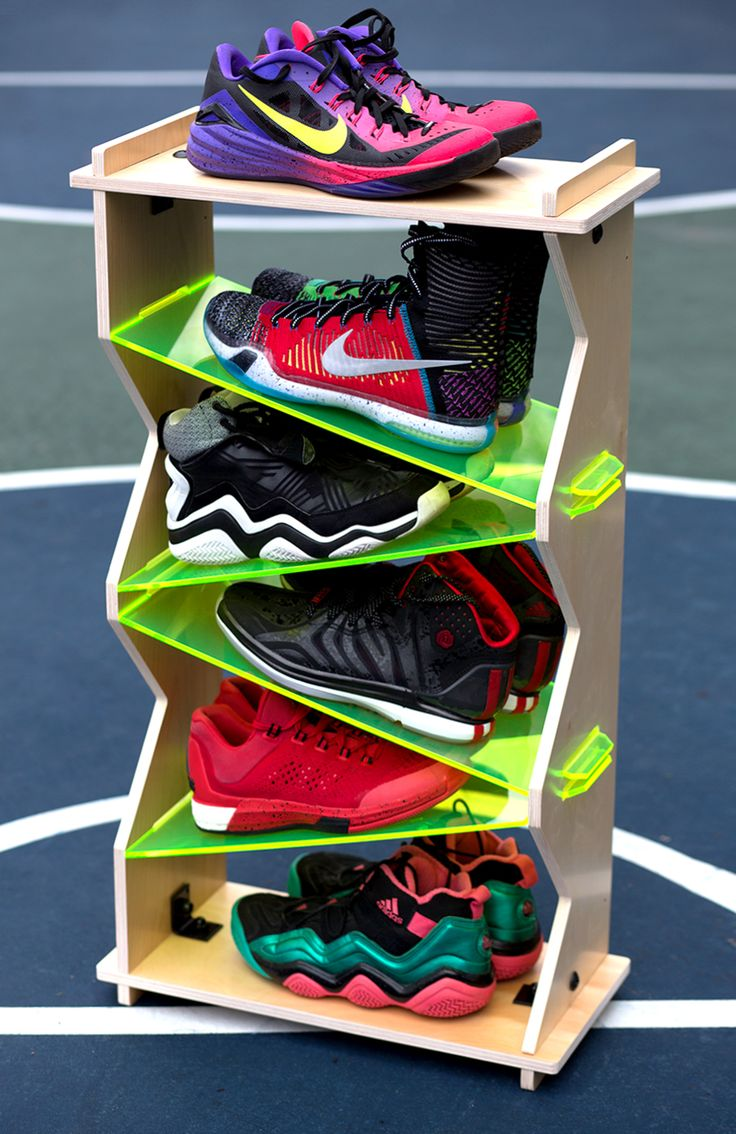 6-Stack Volt, Sole Stacks, Sneaker display