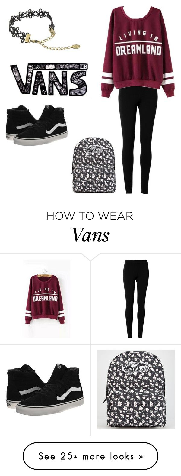 """vans"" by ginnycasey on Polyvore featuring Max Studio, Vans, women's clothing, women, female, woman, misses and juniors"