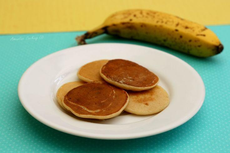 Pancakes à la banane (pour bébé) avec seulement 3 ingrédients ! #recette #recettebébé #bébé #diversification