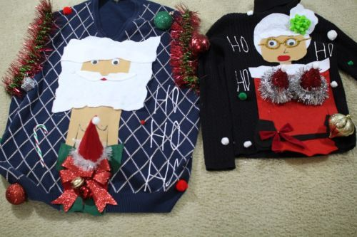 ready to ship 2 Couples Ugly Christmas by FunnyHolidaySweaters