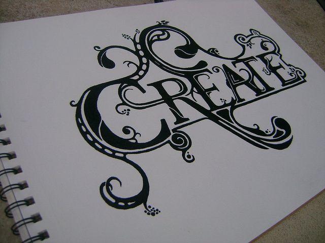Custom lettering...