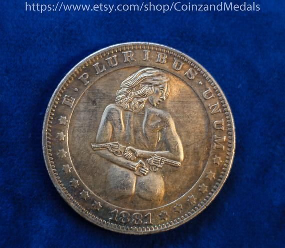Sexy Girl Nude Hobo Nickel Coin 1881-CC or 1921 D Morgan