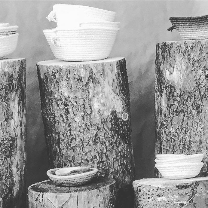 Seven days to HT@UNBC! HT Gift Guide idea #4: . Rope bowls. For people who dont eat soup. . #hunterandthistlegiftguide #UNBCartisansfair #hunterandthistlefairs #UNBC