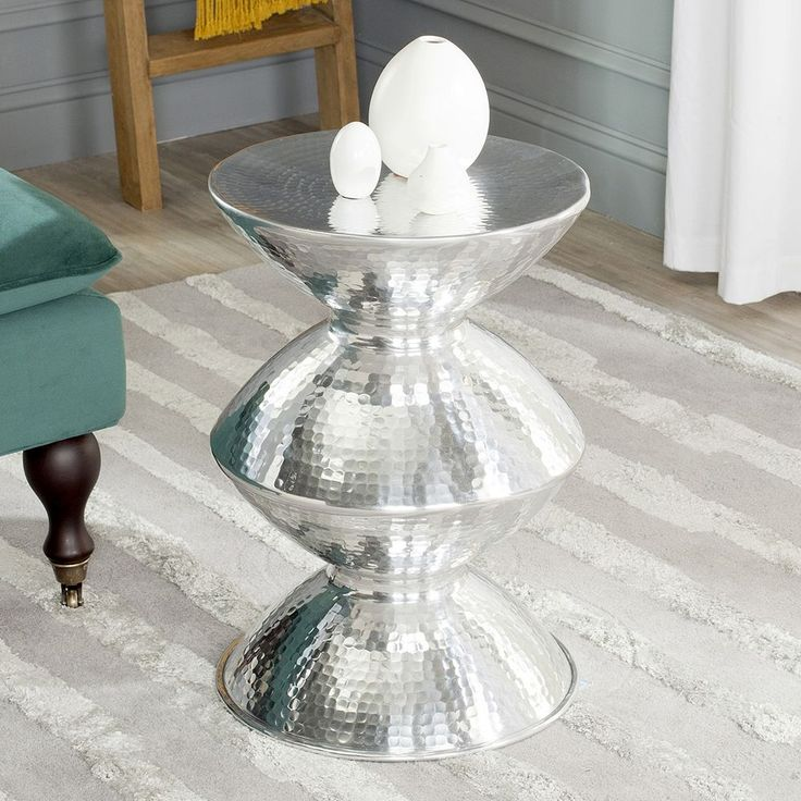 Safavieh Guildsman Metal End Table, Silver