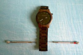 Wood watches! Shorting the strap! #watch #woodwatch #watches
