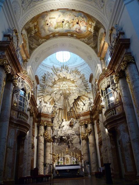 Karlskirche,Wien, Austria By Erlach  interior