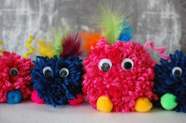The Purple Pug: Yarn Pom Pom Monster Tutorial   Crafts ...