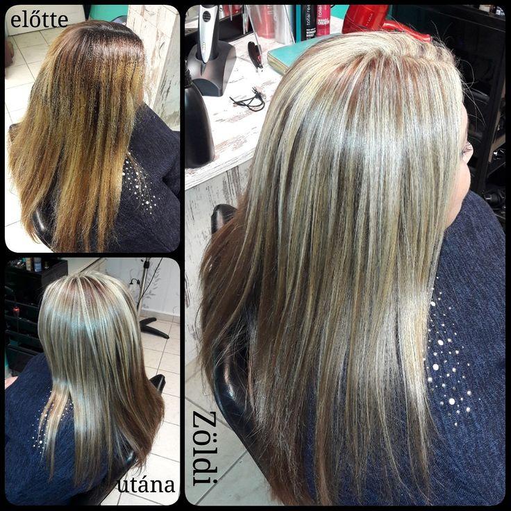 #zöldiszilvia #munkám #mywork #hajvágás #haircut #hajfestés #haircolor #melír #lovemyjob #imádomamunkám #matrix #matrixhair #matrixcolor