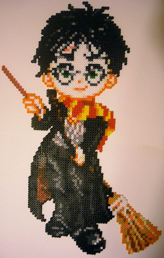 "Harry Potter Perler Bead Sprite (14"" x 21 1/2"") by Jemzos"