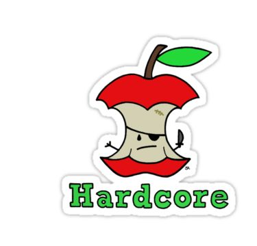 """Hardcore"" Stickers by Stacey Roman 