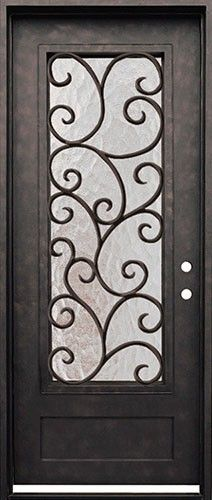 Cascade Iron Front Door. Beautiful wrought iron door with grille