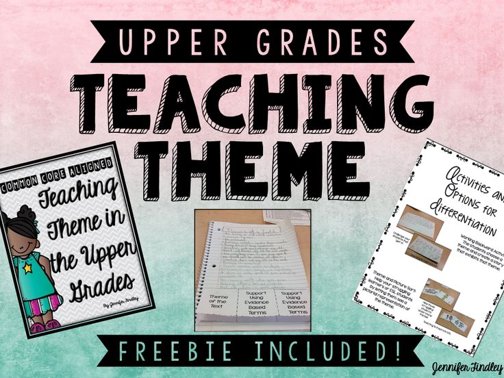 I finished up teaching theme in the upper grades and for the first time ever, it went fabulous! Check out what I did differently this year: